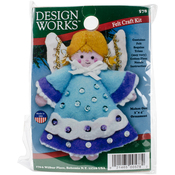 "3""X4"" - Angel Blue Ornament Felt Applique Kit"