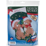 "18"" Long - Teddy Bear Fun Stocking Felt Applique Kit"