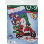"18"" Long - Scooter Santa Stocking Felt Applique Kit"
