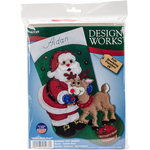 "18"" Long - Santa & Deer Stocking Felt Applique Kit"