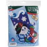 "18"" Long - Snowflake Snowman Stocking Felt Applique Kit"