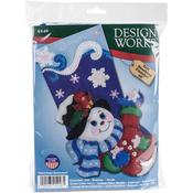 "18"" Long - Snowflake Snowman Stocking Felt Applique Kit"