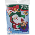 "18"" Long - Starlight Santa Stocking Felt Applique Kit"