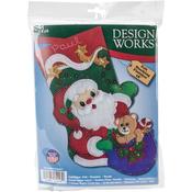 """18"""" Long - Starlight Santa Stocking Felt Applique Kit"""