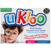 Early Reader - Treasure Hunt Game Ukloo Kids-Treasure Hunt Game: Early Reader. This game makes reading fun, builds confidence and promotes independence! It builds sight reading, provides the basics of sentence structure and introduces research skills. This package contains fifty-four clue cards with three color-coded levels of achievement, one picture helper reference poster, twelve blank surprise cards and twelve blank write your own clue cards within one 5-1/4x7-1/2x1-3/4 inch box. Recommended for ages 4 and up. Imported.