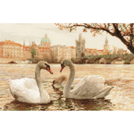 "17.75""X11.75"" 14 Count - Swans Prague Counted Cross Stitch Kit"