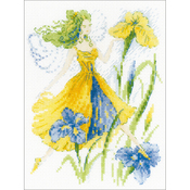 """6""""X8"""" 14 Count - Sunny Day Fairy Counted Cross Stitch Kit"""