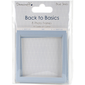 Dovecraft Back To Basics Blue Skies Chip Frames 8/Pkg