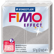 Light Silver Pearl - Fimo Effect Polymer Clay 2oz