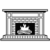 "Fireplace - Embossing Folder 4.25""X5.75"""