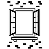 """Window Shutter - Embossing Folder 4.25""""X5.75"""""""