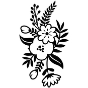 """Small Floral Sprig - Embossing Folder 4.25""""X5.75"""""""