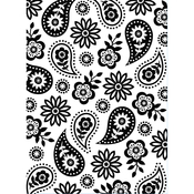 """Floral Paisley - Embossing Folder 4.25""""X5.75"""""""