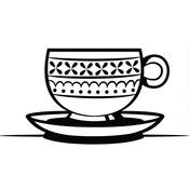 "Teacup & Saucer - Embossing Folder 4.25""X5.75"""