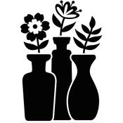 "Bud Vase Trio - Embossing Folder 4.25""X5.75"""