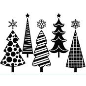 "Fun Christmas Trees - Embossing Folder 4.25""X5.75"""