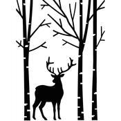 "Deer In Forest - Embossing Folder 4.25""X5.75"""