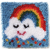 "Rainbow Sprinkles - Wonderart Latch Hook Kit 12""X12"""