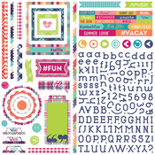 Delightful Mad 4 Plaid Element Sticker Sheet - Photoplay