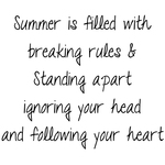"Summer Is Filled With. . . - Gourmet Rubber Stamps Cling Stamps 3.375""X6.75"""