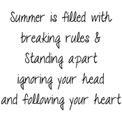"""Summer Is Filled With. . . - Gourmet Rubber Stamps Cling Stamps 3.375""""X6.75"""""""