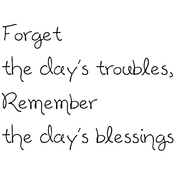 "Forget The Day's Troubles. . . - Gourmet Rubber Stamps Cling Stamps 2.75""X4.75"""