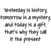 """Yesterday Is History - Gourmet Rubber Stamps Cling Stamps 2.75""""X4.75"""""""