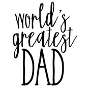 """World's Greatest Dad - Gourmet Rubber Stamps Cling Stamps 3.375""""X6.75"""""""
