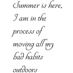"Summer Is Here. . . - Gourmet Rubber Stamps Cling Stamps 3.375""X6.75"""
