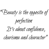 """Beauty Is The Opposite Of Perfection - Gourmet Rubber Stamps Cling Stamps 2.75""""X4.75"""""""