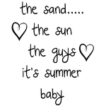 "The Sand. . . - Gourmet Rubber Stamps Cling Stamps 3.375""X6.75"""