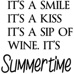 """It's A Smile, It's A Kiss - Gourmet Rubber Stamps Cling Stamps 2.75""""X4.75"""""""
