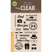 "Dapper Dad - Hero Arts Clear Stamps 4""X6"""