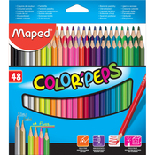 Assorted - Color'Peps Triangular Colored Pencils 48/Pkg