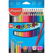 Assorted - Color'Peps Triangular Colored Pencils 36/Pkg