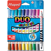 10/Pkg - Color'Peps Duo Tip Ultra-Washable Markers