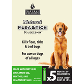 Natural Flea & Tick Squeeze On For Large Dogs 5/Pkg