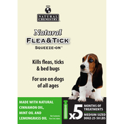 Natural Flea & Tick Squeeze On For Medium Dogs 5/Pkg