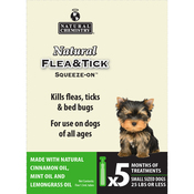 Natural Flea & Tick Squeeze On For Small Dogs 5/Pkg