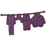 "Santa's Laundry, 2.25""X3.75"" - Cheery Lynn Designs Die"