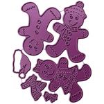 "Gingerbread Family, .25""X2.5"" - Cheery Lynn Designs Die"