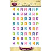 "Planner Banner Alphabet - Justrite Papercraft Clear Stamps 4""X6"""