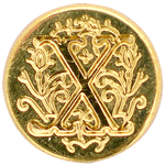 Letter X - Personal Initial Seal