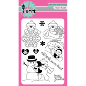 "Frosty Friends - Pink & Main Clear Stamps 4""X6"""