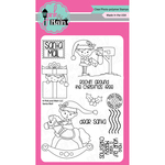 """Santa Mail - Pink & Main Clear Stamps 4""""X6"""""""