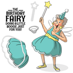 """Birthday Fairy Set - Art Impressions People Cling Rubber Stamps 7""""X4"""""""