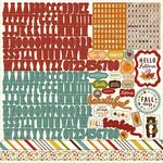 Fall Is In The Air Alpha Sticker Sheet - Echo Park