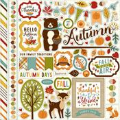 Fall Is In The Air Element Sticker Sheet - Echo Park