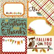 4 x 6 Journaling Card Paper - Fall Is In The Air - Echo Park