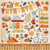 Autumn Sticker Sheet - Carta Bella